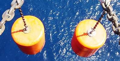 Two offshore buoys