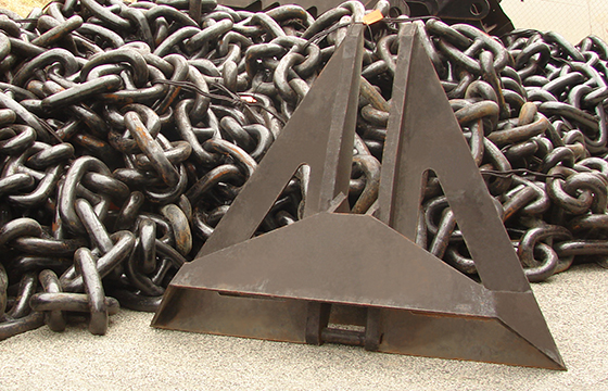 Marine anchor and chain
